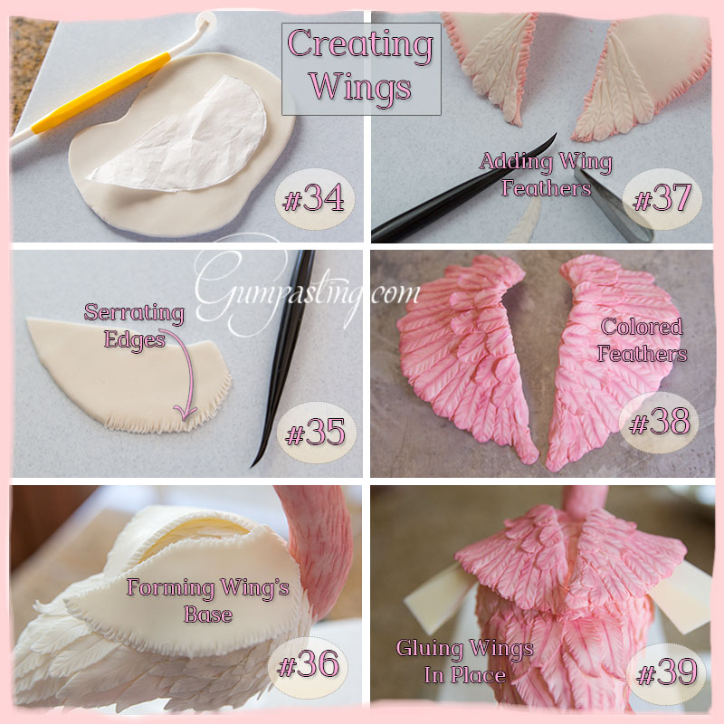{Creating Flamingo Wings Collage}