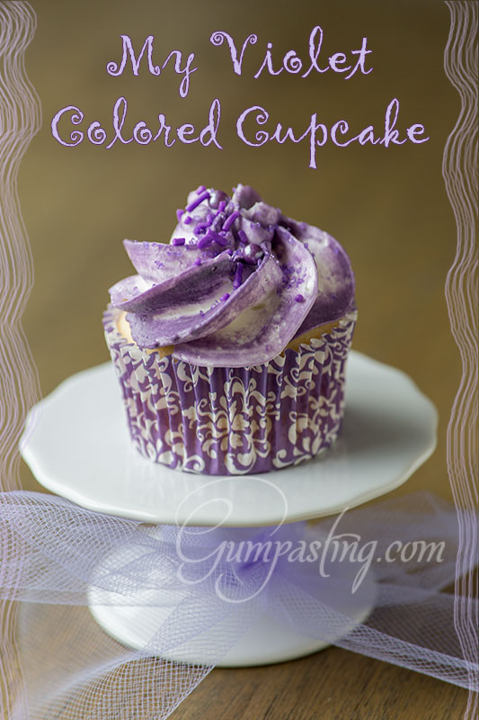 {My Violet Colored Cupcake}