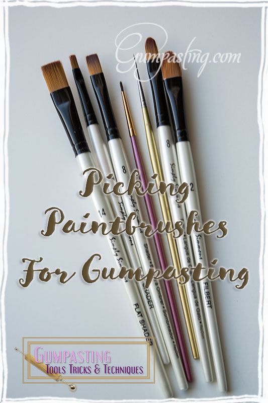 {Picking Paintbrushes For Gumpasting}