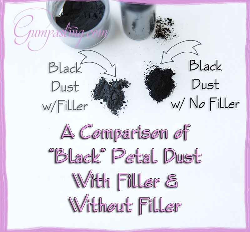 {A Comparison between Black Petal Dust With Filler & Without Filler}